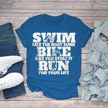 Swimming Funny Tee Swim Like The Boat Sunk Funny Triathlon Unisex - $15.99+