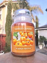 ☆☆PUMPKIN FESTIVAL☆☆ LARGE YANKEE CANDLE JAR☆☆SPICED PUMPKIN SCENTED CANDLE - $23.75