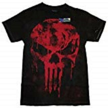 MARVEL COMICS THE PUNISHER MEN'S BLACK RED SMALL T-SHIRT NEW - $12.97