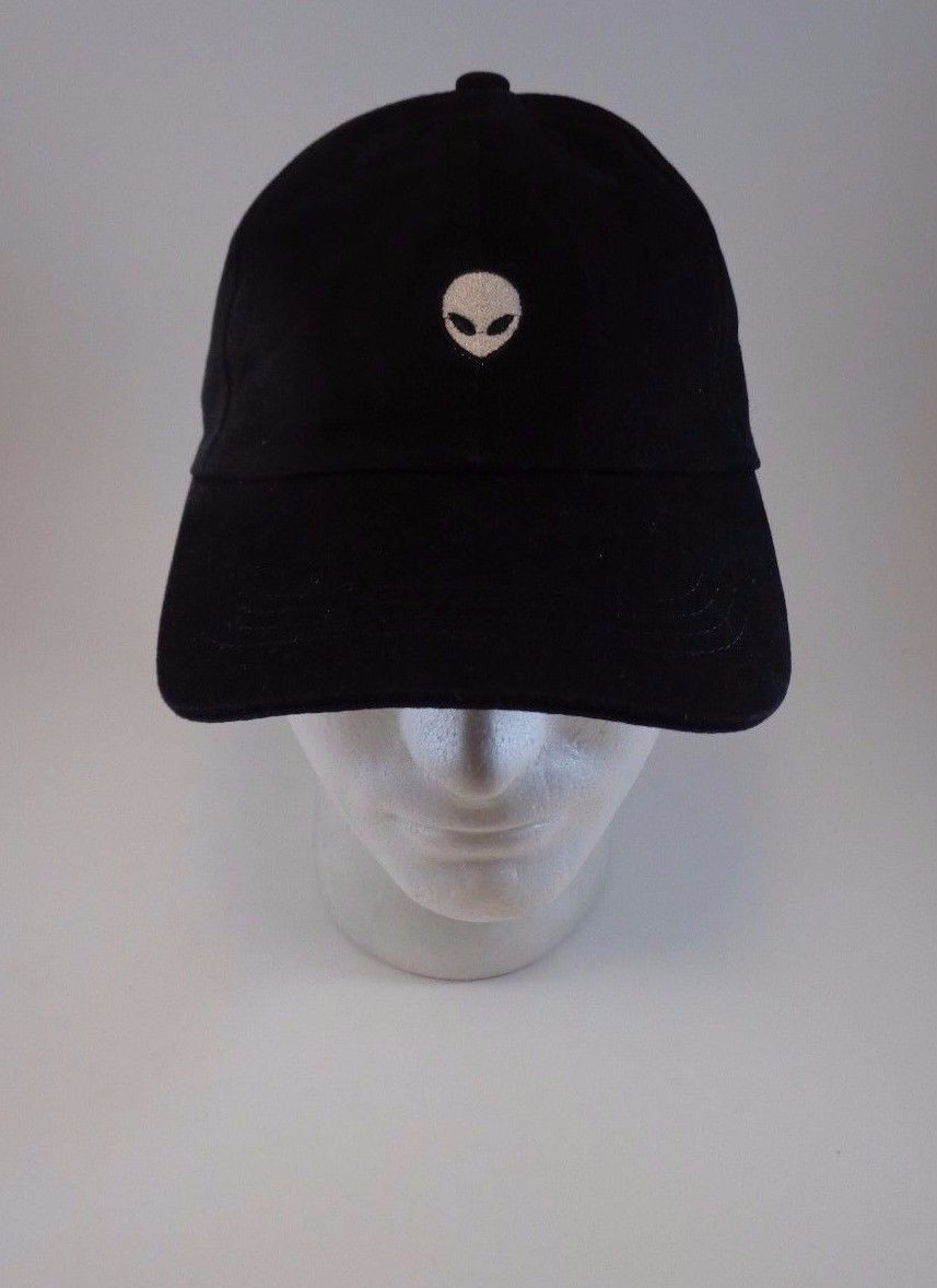 DOPE STYLISH Alien OUTERSPACE Saucer E.T UFO Black Fabric Baseball Cap Hip Hop
