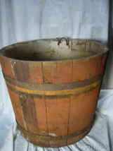 Antique Wooden Maple Syrup Sap Bucket  image 2