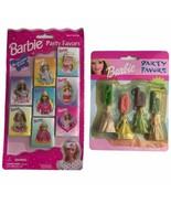 Mattel 2000 Barbie Party Favors Figurine Pendants 1997 Mini Memo Lot New... - $30.68