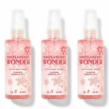 New Bath & Body Works Winterberry Wonder Diamond Shimmer Mist Travel 3 P... - $18.69