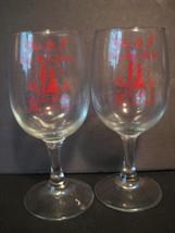 Vintage Lot of 2 1983 ISLIP New York HIGH SCHOOL SENIOR PROM Glasses 6.2... - $16.37
