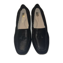 SAS Hope USA 7.5 M Black Onyx Leather Comfort Slip On Flat Tassel Loafer Shoes - $23.51