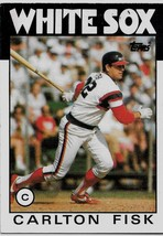 1986 Topps Baseball Card, #290, Carlton Fisk, Chicago White Sox - $0.99