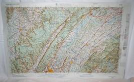1965 Hubbard Raised Relief Map Chattanooga TN   NI 16-3 Edition 2-TPC - $16.50