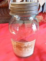 Great Vintage Light BLUE BALL MASON JAR #7 Labe... - $14.85