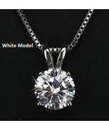 Classic Permanent Pendant Necklace for Women  Hearts and Arrows 2ct Soli... - $9.99