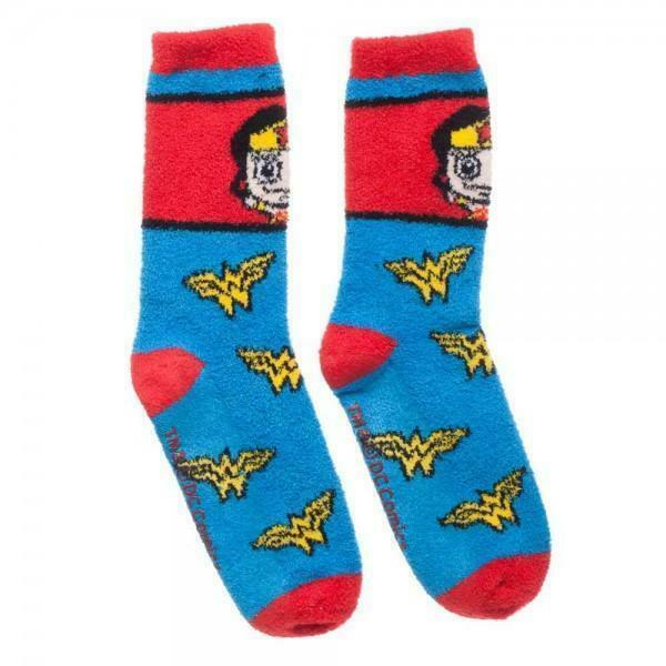 Wonder Woman Juniors Fuzzy Socks