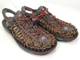 Keen Uneek Size US 11.5 M (D) EU 45 Men's Sport Sandals Shoes Red Dhalia 1014620
