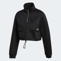 adidas Originals Womens Quarter-Zip Sweatshirt casual black - $94.65