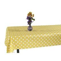 Ottomanson Vinyl Tablecloth Polka Dot Design Indoor & Outdoor Non-Woven ... - $11.37