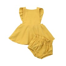 0 24M Infant Baby Girl Clothes Summer Ruffle Fly Sleeve  Dress Tops Shor... - $9.99