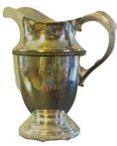 Viking Silver  water pitcher marked  V 16 A with ice lip 8 inches. Excellent con image 1