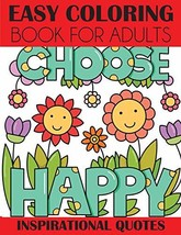 Easy Coloring Book for Adults: Inspirational Quotes [Paperback] Creative... - $14.80