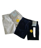 Cat & Jack 2 Pack Boys Shorts 18M Gray Navy Easy On Easy Off Draw String... - $14.30