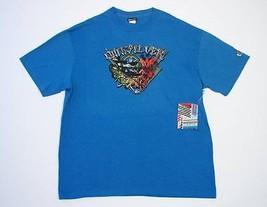 Quiksilver Signature Blue Short Sleeve Tee T Shirt Mens Large L NWT - $18.55