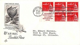 December 5, 1962 First Day of Issue, Art Craft Cover, Air Mail Plane & C... - $0.99