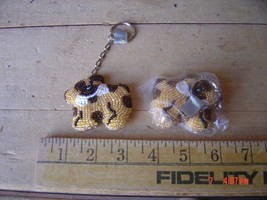 Beaded Key Chain - DOG & BONE - Lot of TWO (2) - $9.89
