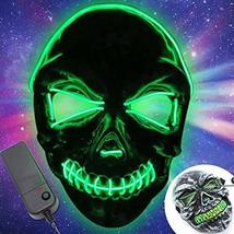 Halloween LED Scary Mask-Festival (Halloween Led Mask 3 Mode (green)) - £15.02 GBP