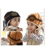 Winter Pilot Hat Baby Beanie Kids Earflap Toddler Warm Aviator Fleece So... - $7.85