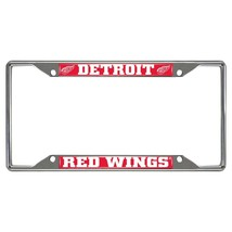 Fanmats NHL Detroit Red Wings Chrome Metal License Plate Frame Delivery 2-4 Days - $13.36