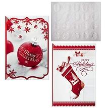 Hallmark Christmas Boxed Card Assortment, Ornament and Stocking (40 Card... - $27.43