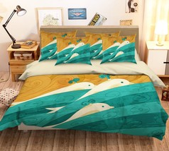 3D Whale Blue Wave 26 Bed Pillowcases Quilt Duvet Single Queen King US Summer - $102.84+