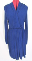 NWT XXl Forever Blue Long Sleeve Crossover Front Dress Size L - $15.99