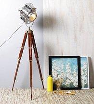 Nauticalmart Antique Designer's Silver Finish Tripod Floor Lamp - $187.11