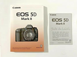 Spanish Language Canon EOS 5D Mark II Camera Instruction Manual - $12.99