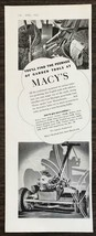 1936 Macy's Garden Department PRINT AD You'll Find the Peerage of Garden... - $10.69