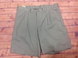 LEE Mens Pleated Khaki Cotton Dress Shorts Size 40 Cotton Relaxed Fit Ne... - $15.95