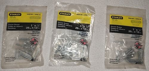Stanley S838961DPB115 One Inch By One Half Of An Inch Zinc Plated Corner Braces