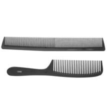 Hair Comb Brush Anti-Static Carbon Double Cut Professional Salon Tools S... - $6.19