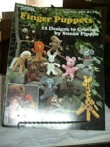Leisure Arts 435 Finger Puppets 12 Designs to Crochet Susan Pippin 1986 4 p - $2.91