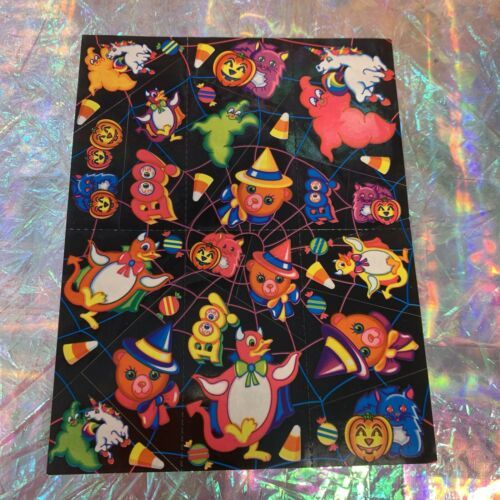 Rad Vintage Lisa Frank Halloween Bears S199 Rare HTF complete Mint Boo! Candy