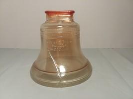 LIBERTY BELL Piggy Bank Coin Bank 1776/1976 GLASS - $12.86
