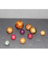 MARBLES- SIX SOLID COLORED MARBLES- AUC 100 - $6.79