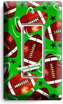 American Football Rustic Balls Single Gfi Light Switch Wall Plate Boy Room Decor - $8.99