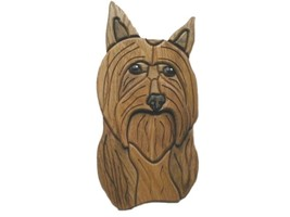 Silky Terrier - intarsia Wood Carving - $110.99
