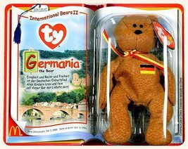 Germania Bear McDonalds Ty Teenie Beanie Baby 2000 International Bears I... - $15.79