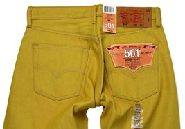 NEW LEVI'S 501 MEN'S ORIGINAL FIT STRAIGHT LEG JEANS BUTTON FLY YELLOW 501-1474 image 1