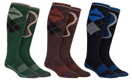 Storm Bloc - Mens Extra Long Knee High Argyle Patterned Cotton Hiking Boot Socks - $17.99
