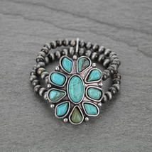 *NWT* Natural Turquoise, Western Pearl Stretch Bracelet 7106880068 - $28.04