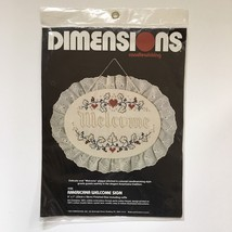 Dimensions Americana Welcome Sign Colonial Candlewicking Embroidery Kit New VTG - $14.46