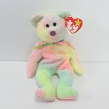 Ty Beanie Baby Groovy Bear With Tag Errors & Rare Tush Tag - $313.50