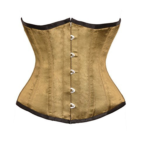 Primary image for Alpine Yellow Satin Gothic Burlesque Corset Waist Cincher Bustier Underbust Top