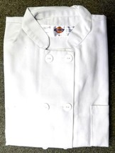 Dickies Chef Coat Jacket S CW070309A Restaurant Button Front White Uniform New image 2
